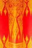 Тайское изящное искусство на стене Стоковое Изображение