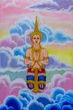 Тайское искусство ангела Стоковая Фотография
