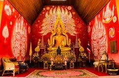 Тайское искусство в буддийском святом месте Стоковое Фото