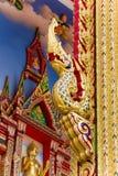 Тайское искусство золотое головного короля nagas Стоковая Фотография