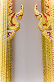Тайское искусство золотое головного короля nagas Стоковые Фото