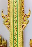 Тайское искусство золотое головного короля nagas Стоковые Фотографии RF