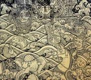 Тайское искусство листового золота Стоковое фото RF