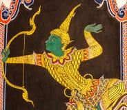 Тайское искусство картины стиля стоковое изображение