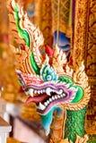 Тайское искусство красочное головного короля nagas Стоковые Фото