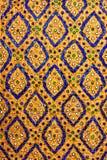 Тайское искусство на декоративной стене Стоковое Фото