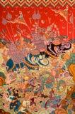 Тайское искусство стенной росписи Стоковые Фото