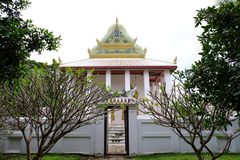 Тайское королевское святилище от Nonthaburi стоковое изображение