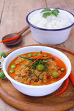 Тайское красное карри зажарило с молоком свинины и кокоса & x28; panaeng& x29; Стоковая Фотография