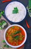 Тайское красное карри с молоком свинины и кокоса & x28; panaeng& x29; Стоковые Фото