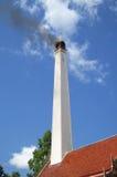 Тайское крематорий горит труп в виске Стоковая Фотография