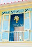 тайское окно деревянное стоковое изображение rf