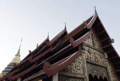 Тайское оформление крыши Стоковое Фото