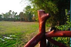 Тайское патио дома с полями Стоковое Изображение RF