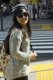 Тайское перемещение и портрет женщины на улице на Shinjuku Стоковые Изображения RF