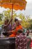 Тайское престарелое празднует фестиваль Songkran или тайский Новый Год Стоковое Фото
