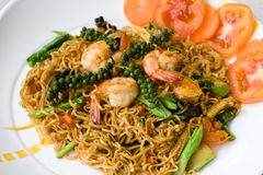 тайское продуктов моря лапши пряное Стоковое фото RF