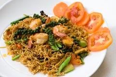 тайское продуктов моря лапши пряное Стоковая Фотография