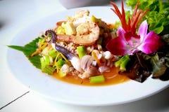тайское продуктов моря пряное Стоковые Фото