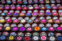 Тайское резное изображение цветка мыла стоковое фото rf
