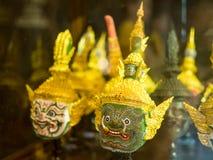 Тайское старое традиционное maskHua Khon стоковая фотография