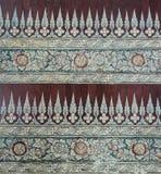 Тайское старое флористическое искусство картины Стоковая Фотография