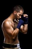 тайское человека боксера muay Стоковые Изображения RF