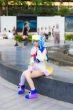 Тайское cosplay платье идола звезды как характер от Moetan Стоковое Изображение