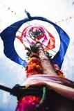 Тайское decoratioธ поляка церемонии благословением стиля стоковая фотография rf