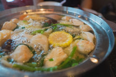 Тайское shabu sukiyaki Стоковые Изображения RF