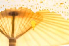 Тайское umbella украшает в свадьбе Стоковая Фотография