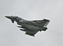 Тайфун Eurofighter на flypast Стоковое Изображение RF