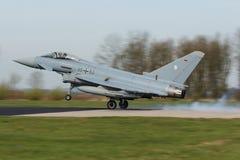 Тайфун 2000 Eurofighter II касаясь вниз на тренировке флага Frisian Стоковые Фото