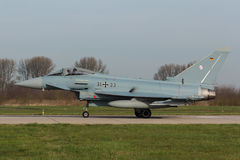 Тайфун 2000 Eurofighter II подготавливая для принимает на флаг Frisian Стоковые Фото