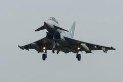 Тайфун 2000 Eurofighter II приходя внутри для приземляться на флаге Frisian Стоковое Изображение RF
