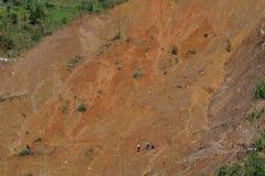 Тайфун Ompong Mangkhut Филиппины трагедии оползня Ucab Itogon Benguet стоковая фотография