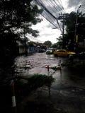 Тайфун Trami& x27; влияние s стоковая фотография