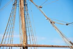 Такелажирование и веревочки старого парусного судна Стоковая Фотография