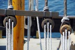 Такелажирование сосуда плавания Стоковые Изображения