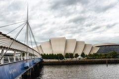 также броненосец как колоколы предпосылки наводит выставку Глазго конференции clyde центра известное над secc scottish реки Стоковые Фото
