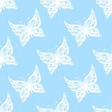 также вектор иллюстрации притяжки corel Безшовная картина бабочек bluets иллюстрация штока