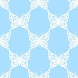 также вектор иллюстрации притяжки corel Безшовная картина бабочек bluets иллюстрация вектора