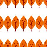 также вектор иллюстрации притяжки corel Дерево осени плоское изолированное на белой предпосылке картина безшовная иллюстрация штока