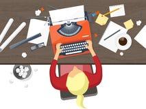 также вектор иллюстрации притяжки corel Плоская машинка Ноутбук Скажите ваш рассказ идентификации Блоги иллюстрация штока