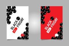 также вектор иллюстрации притяжки corel Установленный черный текст знамени продаж пятницы для брошюры, летчика и знамени с черным бесплатная иллюстрация