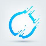 также вектор иллюстрации притяжки corel Абстрактный голубой круг Стоковые Фото