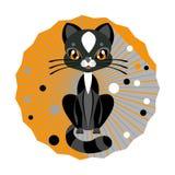 также вектор иллюстрации притяжки corel кот милый Стоковая Фотография RF