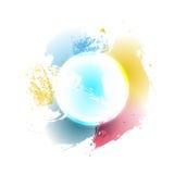 также вектор иллюстрации притяжки corel красочные логотип круга/элемент дизайна предпосылки Стоковые Фото