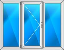 также вектор иллюстрации притяжки corel Окно пластмассы схемы Стоковые Изображения RF