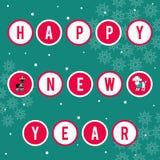 также вектор иллюстрации притяжки corel Поздравления на празднике Текст в шариках Изображение рождества для украшения Год  Стоковая Фотография